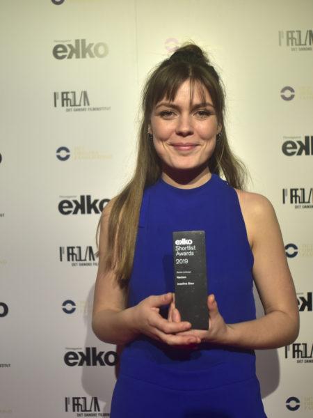 Josefine Skov med sin Ekko Shortlist-pris